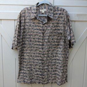 Men's TORI RICHARD 100% Cotton Lawn Aloha Shirt L